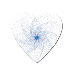 Spirograph Pattern Geometric Heart Magnet by Mariart