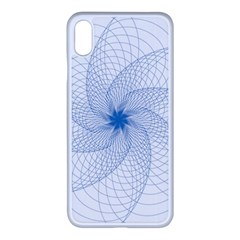 Spirograph Pattern Geometric Apple Iphone Xs Max Seamless Case (white)