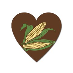 Sweet Corn Maize Vegetable Heart Magnet by Alisyart