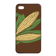 Sweet Corn Maize Vegetable Apple Iphone 4/4s Seamless Case (black)