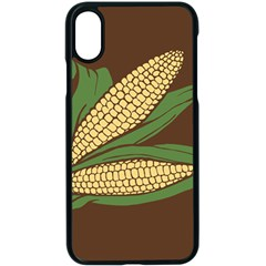 Sweet Corn Maize Vegetable Apple Iphone Xs Seamless Case (black)