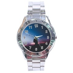 At Dusk Stainless Steel Analogue Watch by WensdaiAddamns