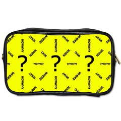 Crime Investigation Police Toiletries Bag (two Sides) by Alisyart