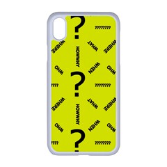 Crime Investigation Police Apple Iphone Xr Seamless Case (white) by Alisyart