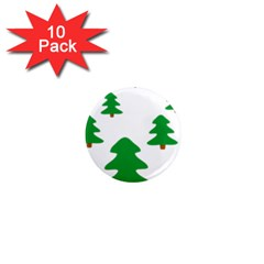 Christmas Tree Holidays 1  Mini Magnet (10 Pack)  by Alisyart