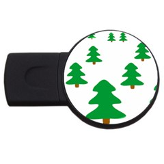 Christmas Tree Holidays Usb Flash Drive Round (4 Gb)