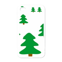 Christmas Tree Holidays Apple Iphone 4 Case (white)