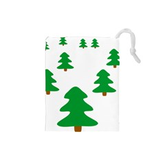 Christmas Tree Holidays Drawstring Pouch (small)