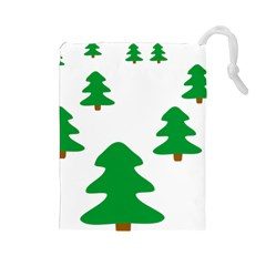 Christmas Tree Holidays Drawstring Pouch (large)