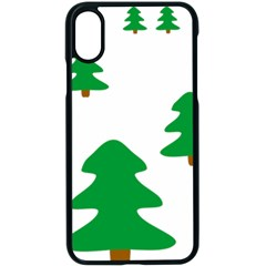 Christmas Tree Holidays Apple Iphone X Seamless Case (black)