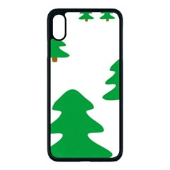 Christmas Tree Holidays Apple Iphone Xs Max Seamless Case (black)