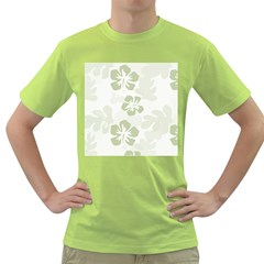 Hibiscus Green Pattern Plant Green T Shirt by Alisyart