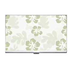 Hibiscus Green Pattern Plant Business Card Holder
