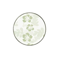 Hibiscus Green Pattern Plant Hat Clip Ball Marker (10 Pack)