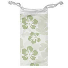 Hibiscus Green Pattern Plant Jewelry Bag