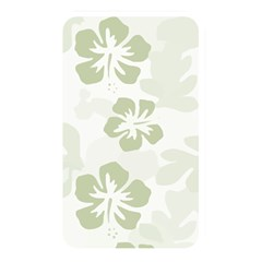 Hibiscus Green Pattern Plant Memory Card Reader (rectangular)