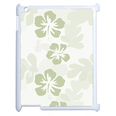 Hibiscus Green Pattern Plant Apple Ipad 2 Case (white)