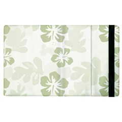 Hibiscus Green Pattern Plant Apple Ipad Pro 12 9   Flip Case