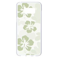 Hibiscus Green Pattern Plant Samsung Galaxy S8 Plus White Seamless Case