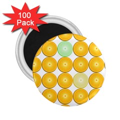 Citrus Fruit Orange Lemon Lime 2 25  Magnets (100 Pack)