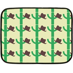Cowboy Hat Cactus Double Sided Fleece Blanket (mini)