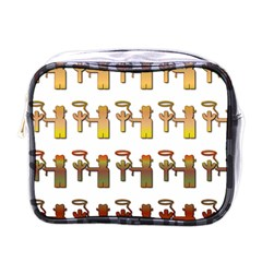 Cowboy Lasso Cactus Western Mini Toiletries Bag (one Side)