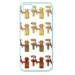 Cowboy Lasso Cactus Western Apple Seamless Iphone 5 Case (color)