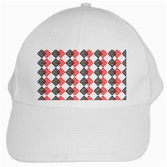 Backdrop Plaid White Cap by Alisyart
