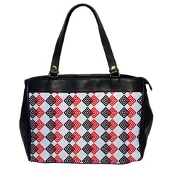 Backdrop Plaid Oversize Office Handbag