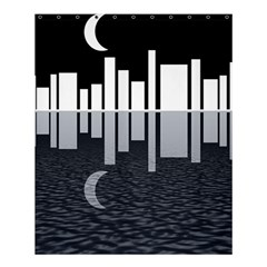 Cityscape City Waterfront Shower Curtain 60  X 72  (medium)