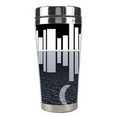 Cityscape City Waterfront Stainless Steel Travel Tumblers