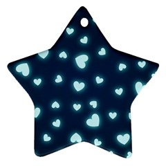 Hearts Background Wallpaper Digital Star Ornament (two Sides)