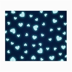 Hearts Background Wallpaper Digital Small Glasses Cloth (2 Side)