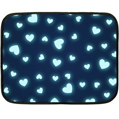 Hearts Background Wallpaper Digital Double Sided Fleece Blanket (mini)