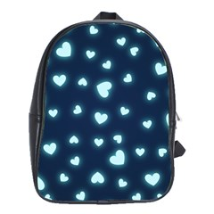 Hearts Background Wallpaper Digital School Bag (large)