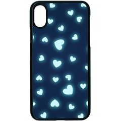 Hearts Background Wallpaper Digital Apple Iphone X Seamless Case (black)
