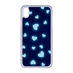 Hearts Background Wallpaper Digital Apple Iphone Xr Seamless Case (white)