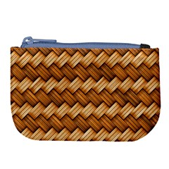 Basket Fibers Basket Texture Braid Large Coin Purse