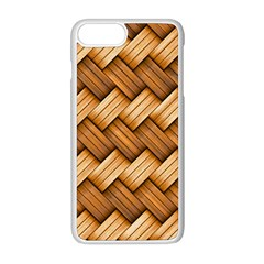 Basket Fibers Basket Texture Braid Apple Iphone 8 Plus Seamless Case (white)