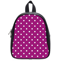 Polka Dots In Purple School Bag (small) by WensdaiAddamns
