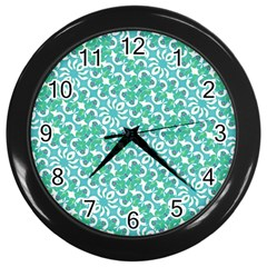 Colorful Abstract Print Pattern Wall Clock (black)
