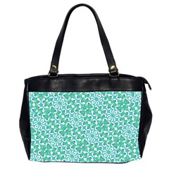 Colorful Abstract Print Pattern Oversize Office Handbag (2 Sides) by dflcprintsclothing