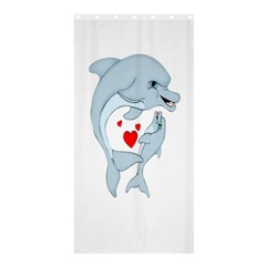 Dolphin Love Shower Curtain 36  X 72  (stall) by retrotoomoderndesigns