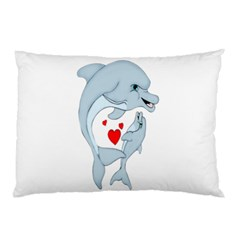 Dolphin Love Pillow Case (two Sides) by retrotoomoderndesigns