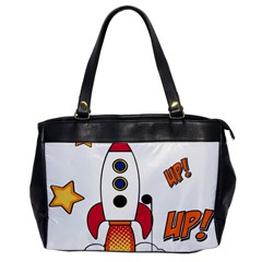 Rocket Cartoon Oversize Office Handbag