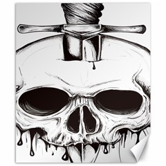 Skull Knife Euclidean Vector Skull Sword Inserted Canvas 8  X 10