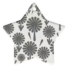 Zappwaits Flowers Black Ornament (star)