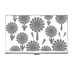 Zappwaits Flowers Black Business Card Holder