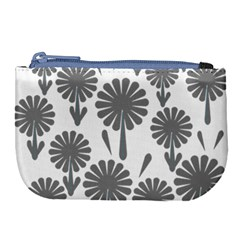 Zappwaits Flowers Black Large Coin Purse