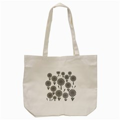 Zappwaits Flowers Black Tote Bag (cream) by zappwaits